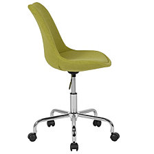 Aurora Series Mid-Back Green Fabric Task Chair With Pneumatic Lift And Chrome Base
