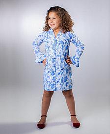 ROSIR Royal Bell-Sleeve Midi Dress