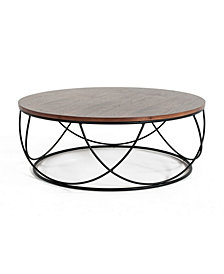 Modrest Strang Modern Round Coffee Table