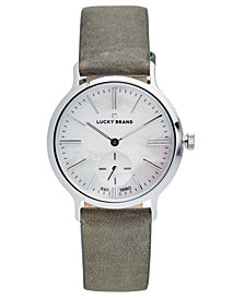 Lucky Brand Women's Ventana Olive Leather Strap Watch 34mm