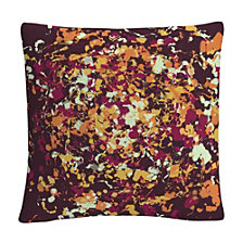 "Speckled Colorful Splatter Abstract 6 16x16"" Decorative Throw Pillow by ABC"