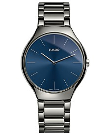 Rado Women's True Thinline Plasma High-Tech Ceramic Bracelet Watch 39mm