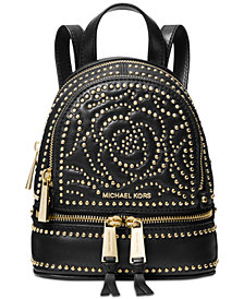 MICHAEL Michael Kors Rhea Mini Zip Studded Convertible Backpack