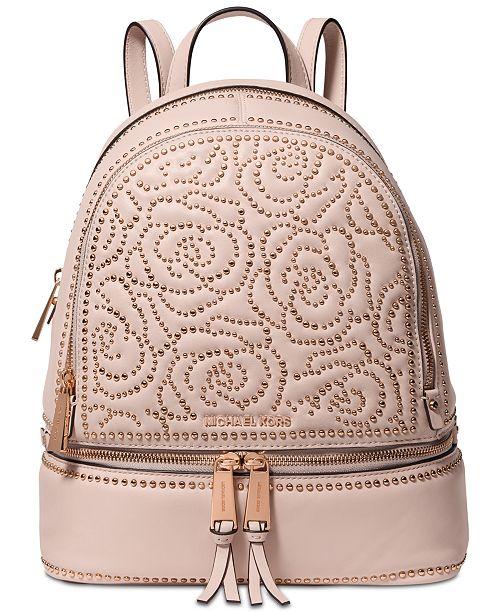 c0ad6d2e5e06 Michael Kors Rhea Zip Studded Backpack & Reviews - Handbags ...