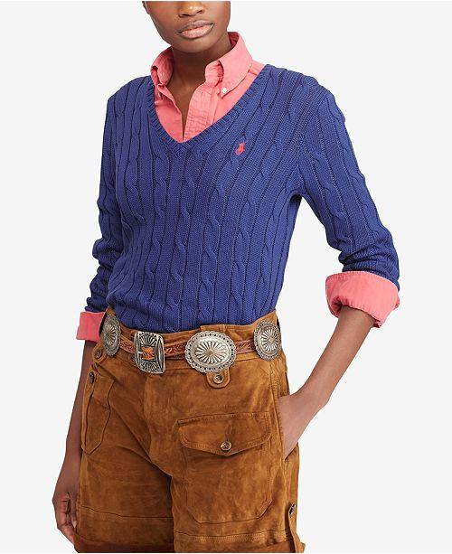 51f234db6b Polo Ralph Lauren Cable-Knit Cotton Sweater   Reviews - Women ...