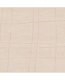 "Surya Mystique M-5451 Cream 18"" Square Swatch"