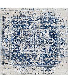 "Surya Harput HAP-1021 Dark Blue 6'7"" Square Area Rug"