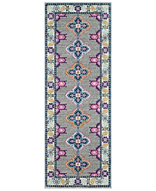 "Harput HAP-1034 Dark Blue 2'7"" x 7'3"" Area Rug"