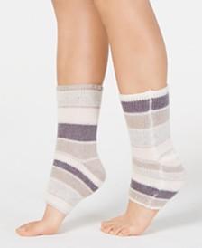 Lemon Striped Tip-Toe Pedicure Socks