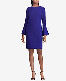 Lauren Ralph Bell Sleeve Ponté-Knit Dress