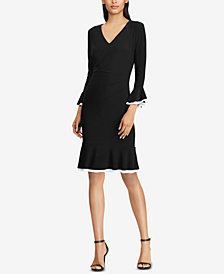 Lauren Ralph Lauren Contrast Ruched Dress