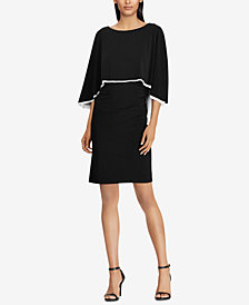 Lauren Ralph Lauren Jersey Cape Dress