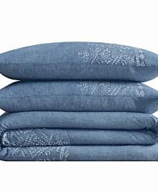 Cottage Classics Chambray Cotton King Comforter Set
