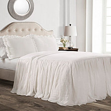 Ruffle Skirt 3-Piece Queen Bedspread Set