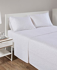 Intelligent Design Cozy Soft Queen Cotton Novelty Print Flannel Sheet Set