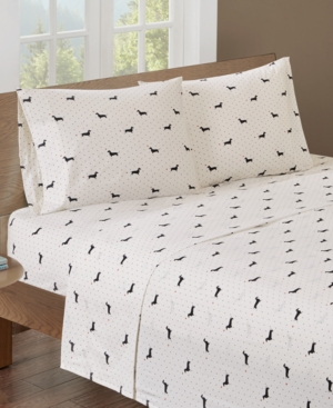 HipStyle Printed Twin Cotton Sheet Set Bedding