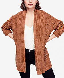 Free People Serene Open-Front Sweater Cardigan