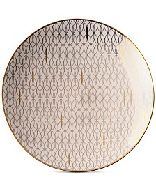 Lenox Trianna  Microwave safe Salad Plate with Gold-Tone Accents