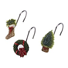 CLOSEOUT! Farmhouse Holiday Shower Hooks