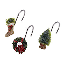 Avanti Farmhouse Holiday Shower Hooks