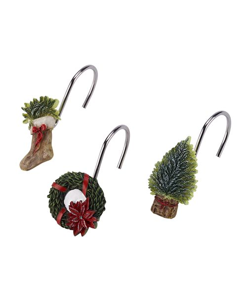 Avanti CLOSEOUT! Farmhouse Holiday Shower Hooks