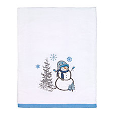 Avanti Let It Snow Bath Towel