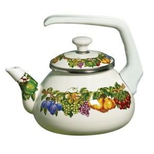 Kensington Garden Porcelain Enamel 2 Qt Teakettle