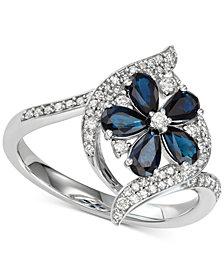 Sapphire (1-1/5 ct.t.w.) & Diamond (1/3 ct. t.w.) Ring  (Also in Tanzanite & Certified Ruby)