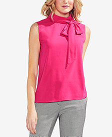 Vince Camuto Bow-Neck Shell