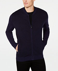 Alfani Men's Plaited Cardigan Sweater, Created for Macy's