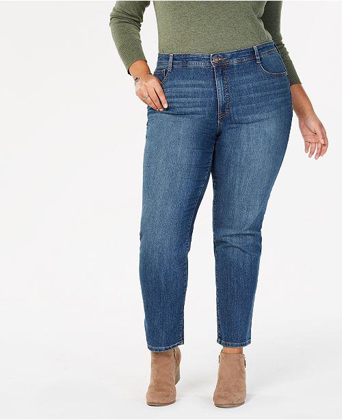 4e678e5b ... Style & Co Plus & Petite Plus Size Tummy-Control Slim-Leg Jeans, ...
