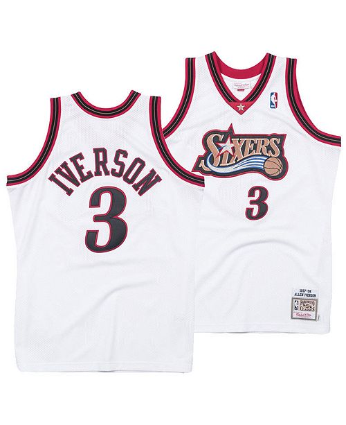 227ce7ab46f ... Mitchell & Ness Men's Allen Iverson Philadelphia 76ers Authentic Jersey  ...