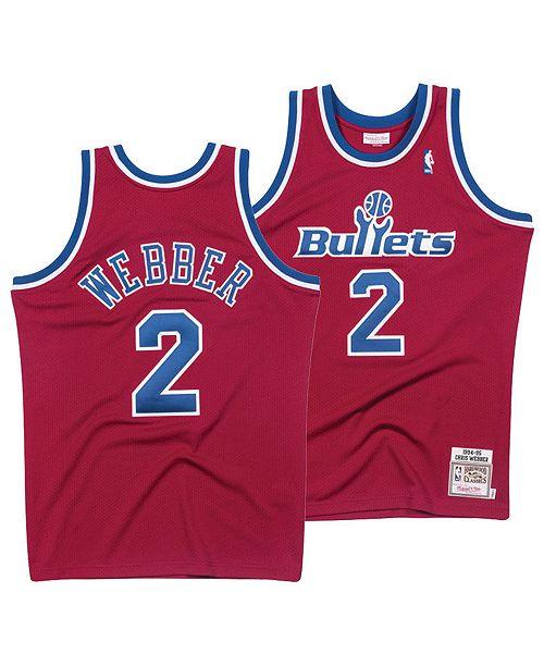 b2035820569 ... Mitchell   Ness Men s Chris Webber Washington Bullets Authentic Jersey  ...