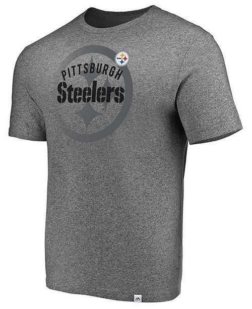 092bdc2b Majestic Men's Pittsburgh Steelers Static Fade T-Shirt - Sports Fan ...