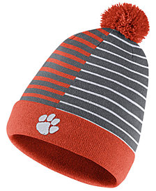Nike Clemson Tigers Striped Beanie Knit Hat