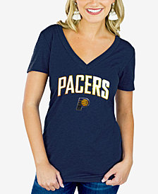 Gameday Couture Women's Indiana Pacers Sequin Wordmark T-Shirt