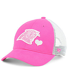 '47 Brand Girls' Carolina Panthers Sugar Sweet Mesh Adjustable Cap