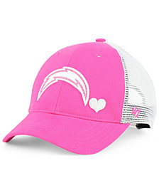 '47 Brand Girls' Los Angeles Chargers Sugar Sweet Mesh Adjustable Cap