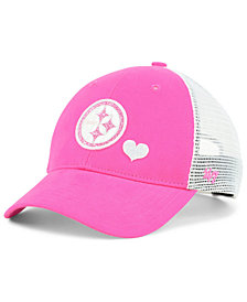 '47 Brand Girls' Pittsburgh Steelers Sugar Sweet Mesh Adjustable Cap