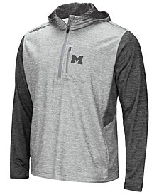 Colosseum Men's Michigan Wolverines Reflective Quarter-Zip Pullover