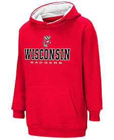 Colosseum Wisconsin Badgers Pullover Hooded Sweatshirt, Big Boys (8-20)