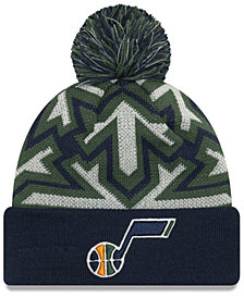 New Era Utah Jazz Glowflake Cuff Knit Hat