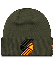 New Era Portland Trail Blazers Tip Pop Cuffed Knit Hat