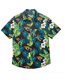 Forever Collectibles Men's Jacksonville Jaguars Floral Camp Shirt