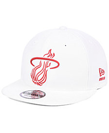 New Era Miami Heat Logo Trace 9FIFTY Snapback Cap