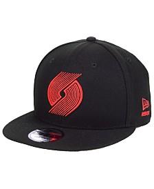 New Era Portland Trail Blazers Logo Trace 9FIFTY Snapback Cap