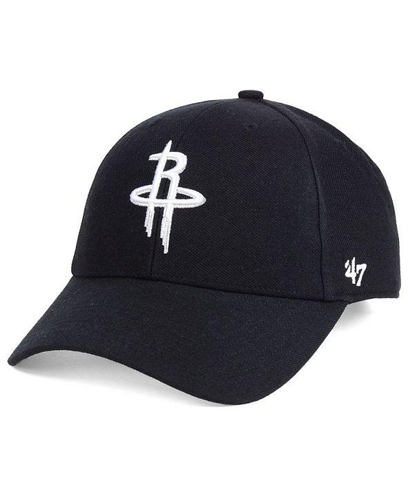 '47 Brand Houston Rockets Black White MVP Cap