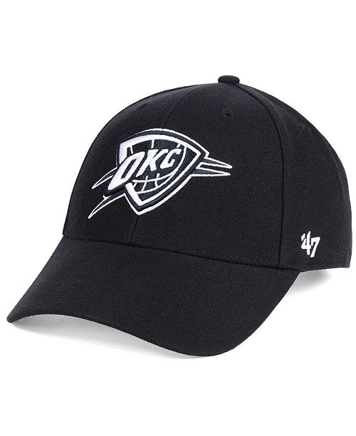 the latest 7b56f 36c84 ...  47 Brand Oklahoma City Thunder Black White MVP Cap    ...