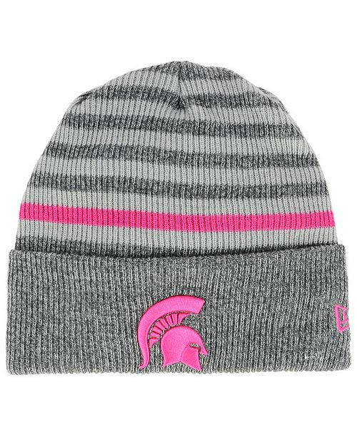 quality design 3aa0d 9d061 New Era. Michigan State Spartans Striped Chill Knit Hat. Be the first to  Write a Review. main image  main image ...