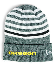 New Era Oregon Ducks Striped Chill Knit Hat